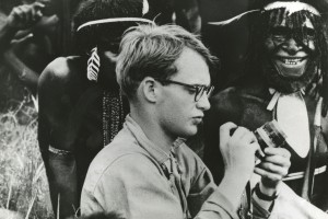 Michael C. Rockefeller, son of Nelson Rockefeller is shown as he adjusted his camera before taking pictures of Papuan men in New Guinea FOR RICK HOMAN PHOTO CREDIT: AP